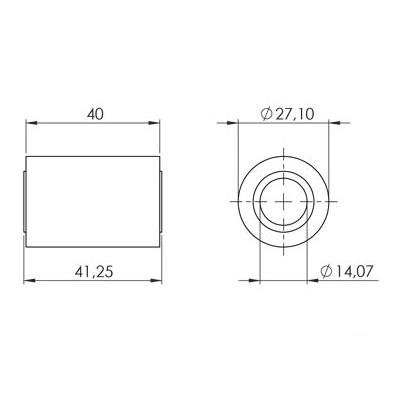 Silentbloc de bras oscillant Yamaha DT50 / Xlimit 03-