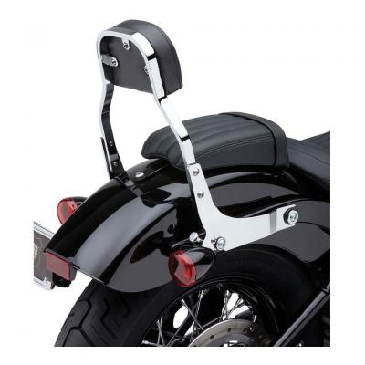 Sissybar amovible Cobra tube carré chromé 28 cm Harley Davidson FXBB 1745 Softail Street Bob 18-19