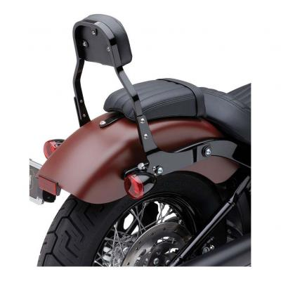 Sissybar amovible Cobra tube carré noir 28 cm Harley Davidson FXBB 1745 Softail Street Bob 18-19