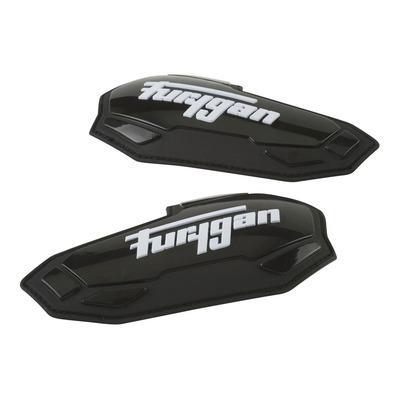 Sliders coudes Furygan Apex noir/blanc