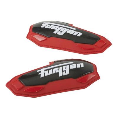 Sliders coudes Furygan Apex noir/rouge