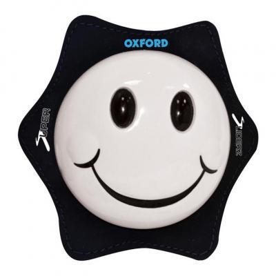 Sliders de genoux Oxford Smiley blanc