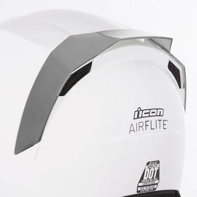 Spoiler arrière Icon pour casque Airflite argent