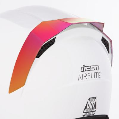 Spoiler arrière Icon pour casque Airflite rouge