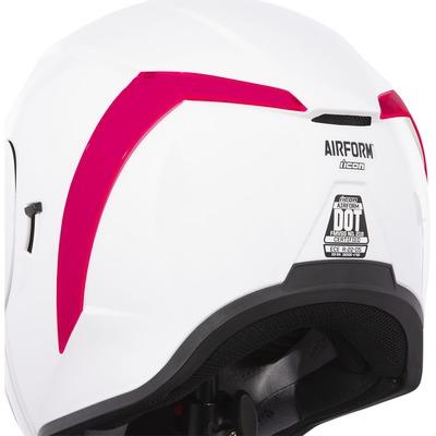 Spoiler arrière Icon pour casque Airform dayglo rouge