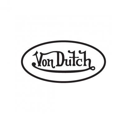 Sticker 8cm Von Dutch blanc