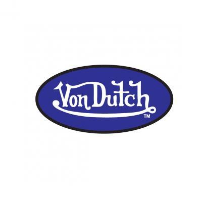 Sticker 8cm Von Dutch bleu