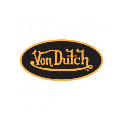 Sticker 8cm Von Dutch noir/jaune