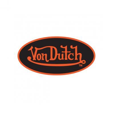 Sticker 8cm Von Dutch noir/orange