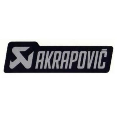 Sticker Akrapovic 135 x 40 mm noir et gris