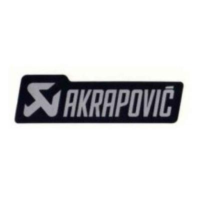 Sticker Akrapovic 150 x 42 mm noir/gris