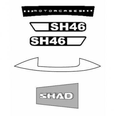 Stickers Shad pour top case SH46