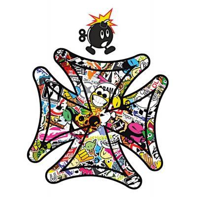 Stickers T4 Tune Croix de Malte Bomb