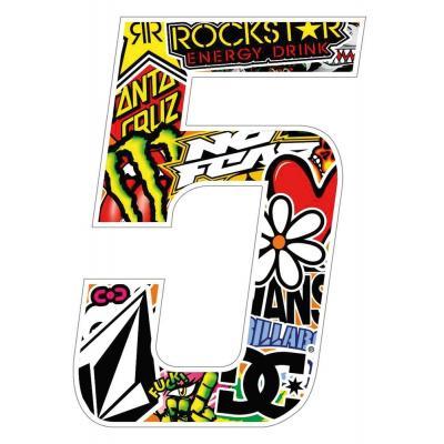 Stickers T4 Tune Numéro 5 10 cm