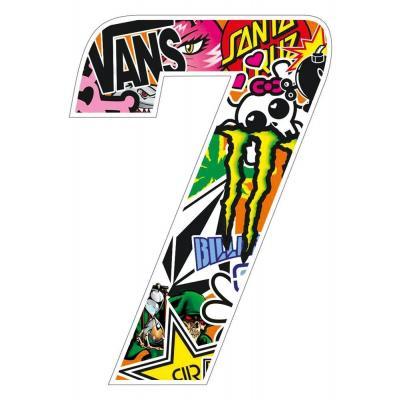 Stickers T4 Tune Numéro 7 10 cm