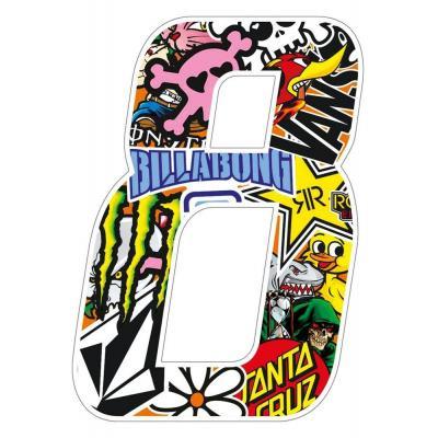 Stickers T4 Tune Numéro 8 10 cm