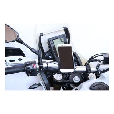 Support alu Far smartphone avec fixation sur guidon 530 T-max avec chargeur