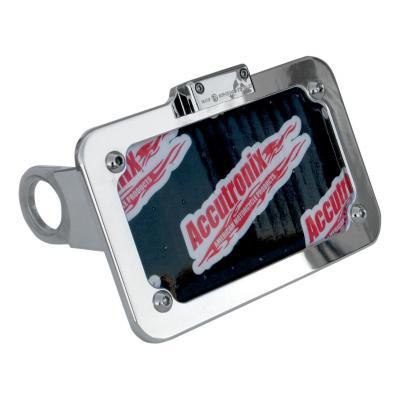 Support de plaque latéral Accutronix éclairage LED Harley Davidson Sportster 10-17 chrome