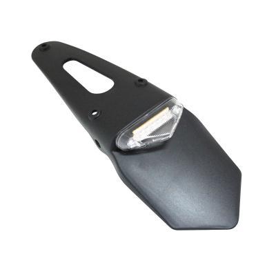 Support de plaque Replay eco avec feu arrière intégré blanc à leds avec bavette