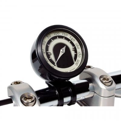 Support guidon Ø 25,4 mm aluminium noir pour compteur Motogadget Motoscope Tiny