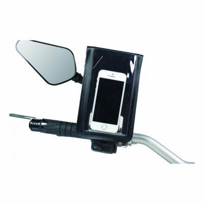 Support Smartphone fixation à la tige du rétroviseur