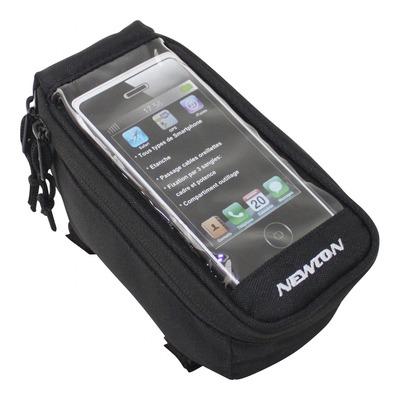 Support smartphone vélo Newton noir