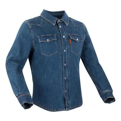 Sur-chemise moto Segura Terence bleu CE