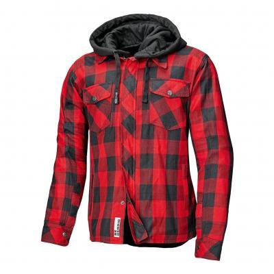 Sur-chemise textile à capuche Held Lumberjack II noir/rouge