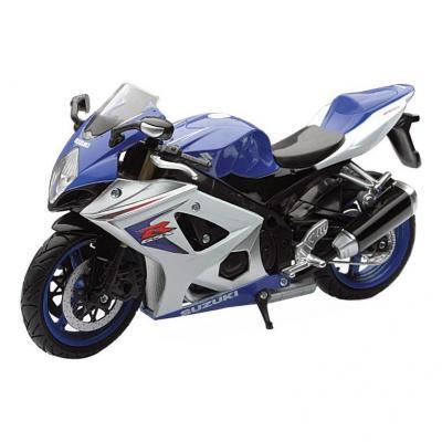 Suzuki GSX-R 1000 1:12 NewRay blanc/bleu