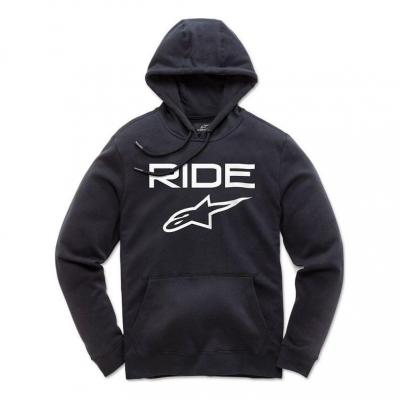 Sweat à capuche Alpinestars Ride 2.0 noir/blanc