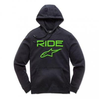 Sweat à capuche Alpinestars Ride 2.0 noir/vert