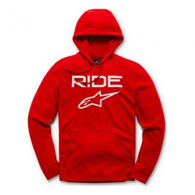 Sweat à capuche Alpinestars Ride 2.0 rouge/blanc