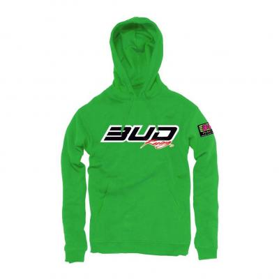 Sweat à capuche enfant Bud Logo vert