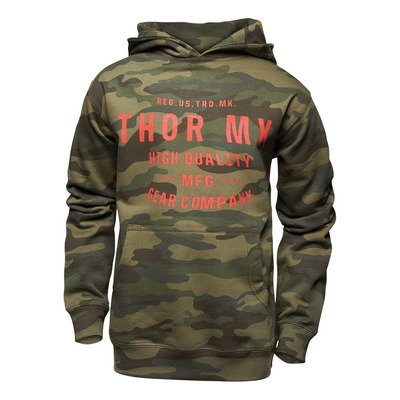 Sweat à capuche enfant Thor MX Crafted camouflage