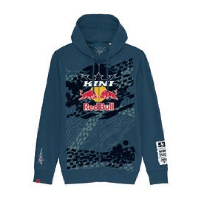 Sweat à capuche zippé Kini Red Bull Topography bleu