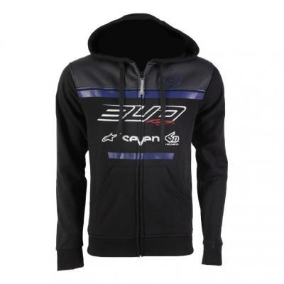 Sweat à capuche zippé enfant Bud Racing Team 19 bleu/noir