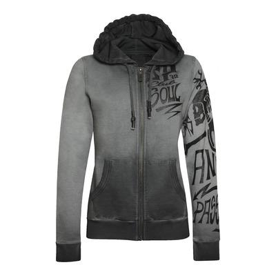 Sweat à capuche zippé femme Acerbis SP Club Heaven gris/multicolore