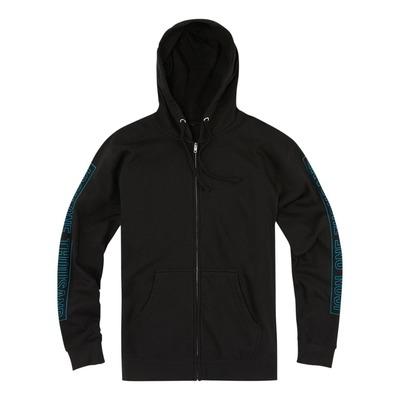Sweat à capuche zippé Icon 1000 Retroskull noir