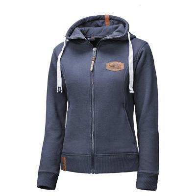 Sweat capuche femme Zip-Hoodie 46 bleu marine