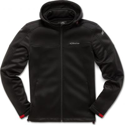 Sweat zip à capuche Alpinestars Stratified noir