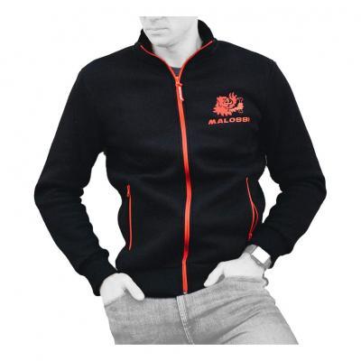 Sweat zip Malossi noir et rouge