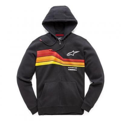 Sweat zippé à capuche Alpinestars Swerve noir
