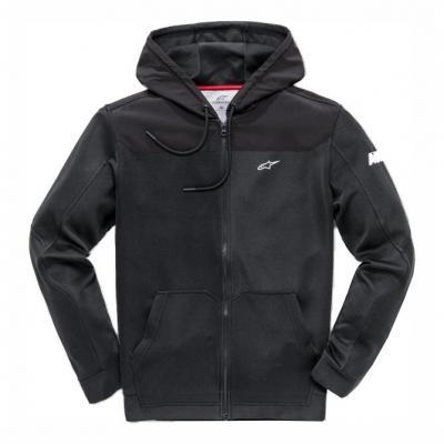 Sweat zippé à capuche Alpinestars Venom noir/noir