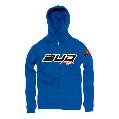 Sweat zippé à capuche Bud Racing Logo bleu