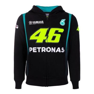 Sweat zippé à capuche enfant VR46 Petronas noir
