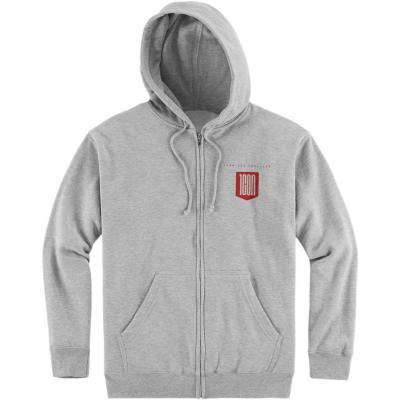 Sweat zippé à capuche Icon 1000 Baseline gris