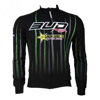 Sweat zippé Bud Racing/Rockstar noir/vert