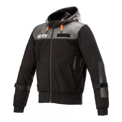 Sweat zippé moto textile Alpinestars AS-DSL Shotaro noir
