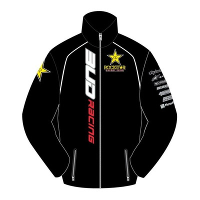 Sweat zippé polaire enfant Bud Racing Rockstar Team bud noir