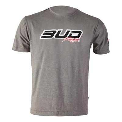 T-shirt Bud Racing Logo Bud gris